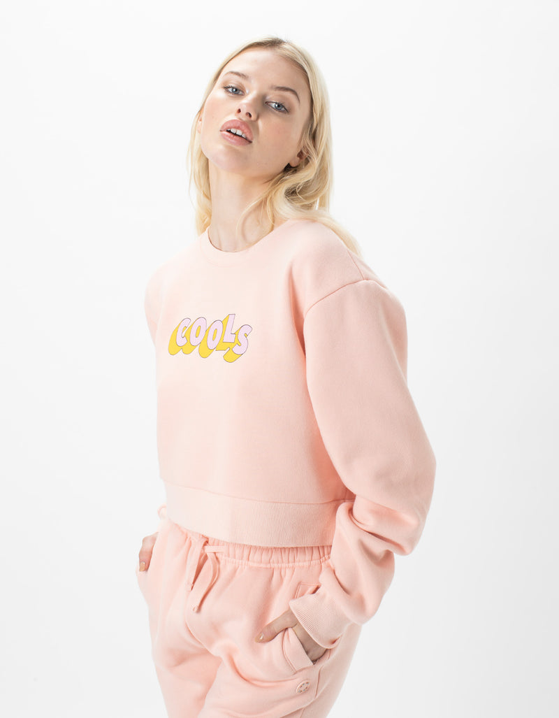 Retro Cools Crew Fleece Pink