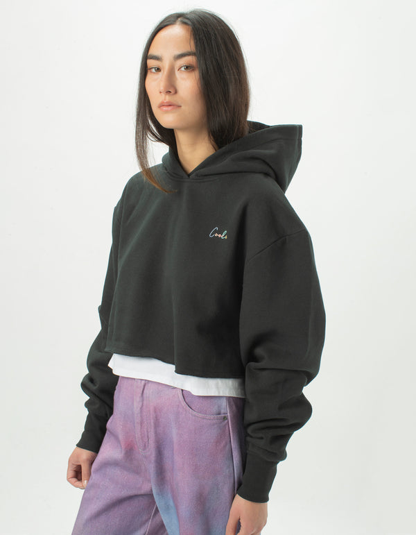 Colour Cools Crop Hood Black
