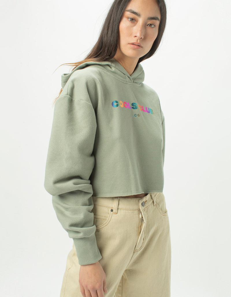 Cools Club Crop Hood Sage