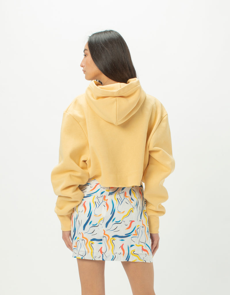 Colour Cools Crop Hood Gold