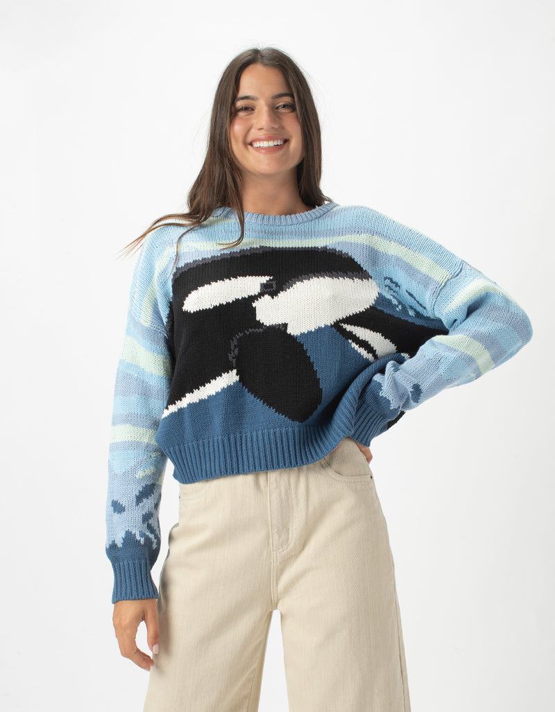 Crew Knit Orca Blue
