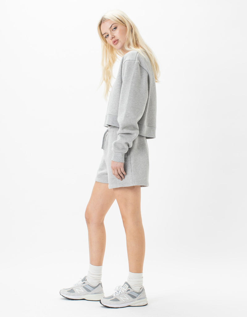 Leisure Club Fleece Shorts Grey Melange