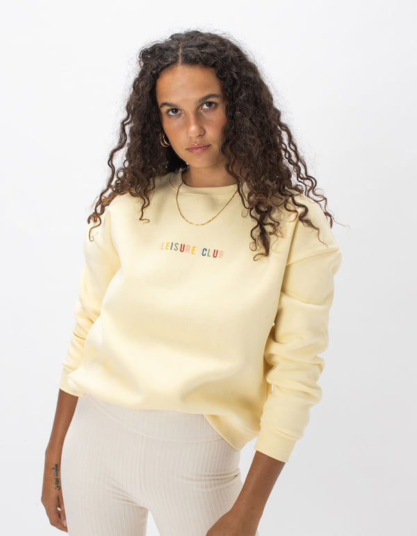 Leisure Embro Sweat Lemon