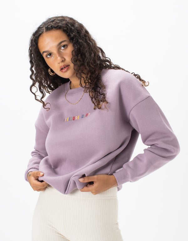 Leisure Embro Sweat Lilac