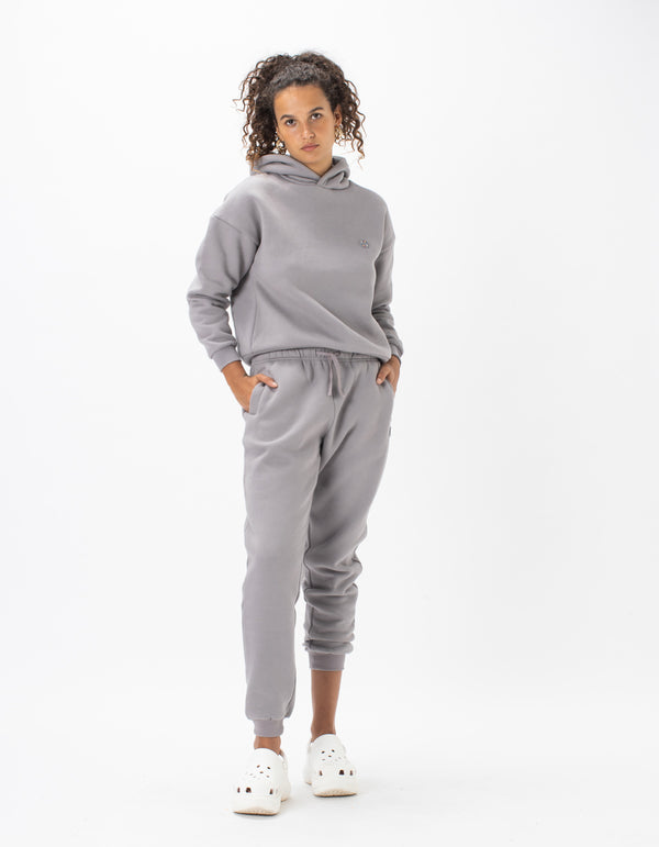 Badge Fleece Pant Smoke