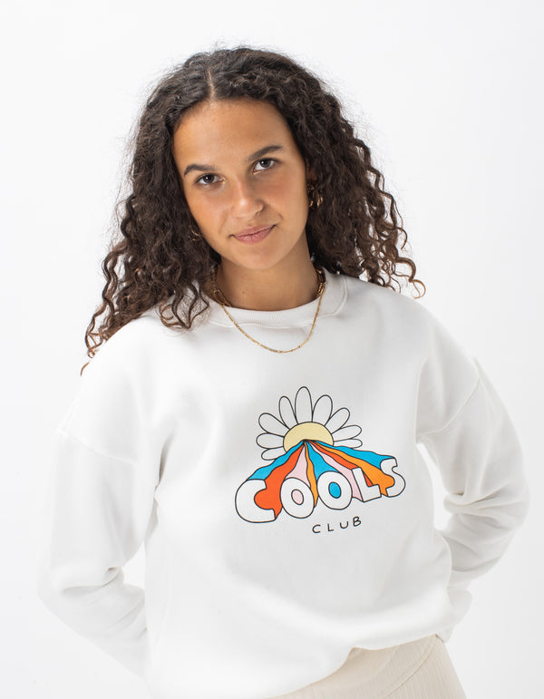 Flower Power Sweat White