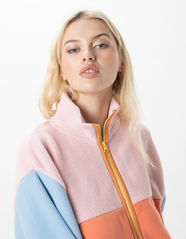 Polar Jacket Pink Colourblock