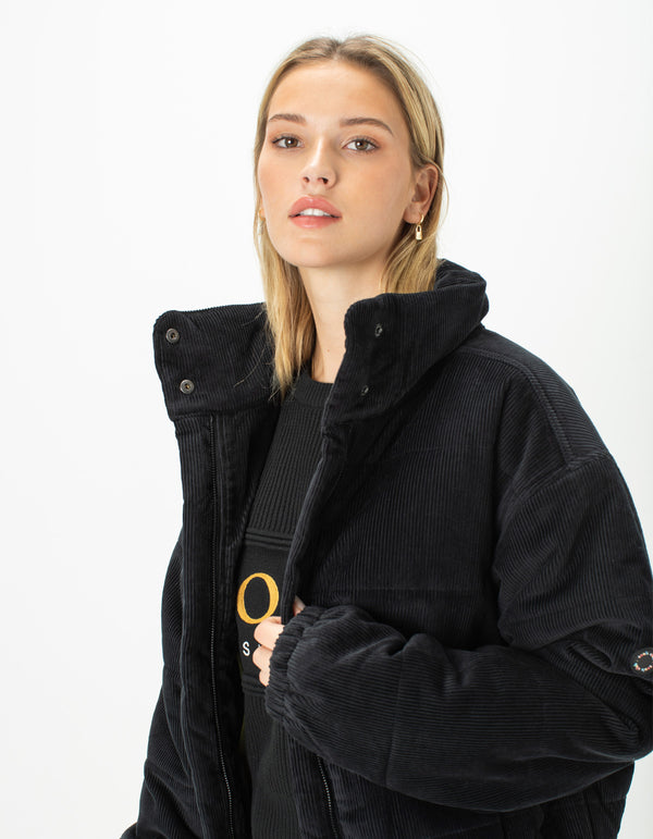 Puff Club Jacket Black Corduroy