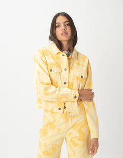 Original Jean Jacket Yellow Tie Dye - Sale