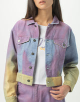 Original Jean Jacket Purple Tie Dye