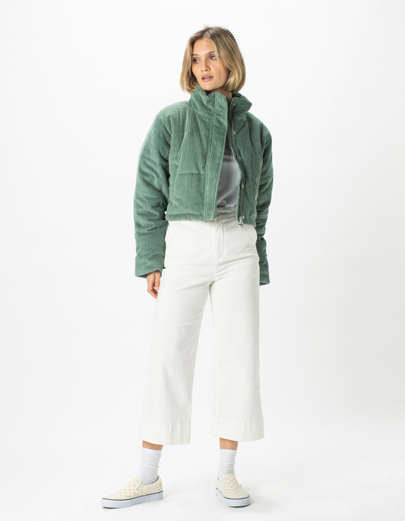 Cropped Puff Club Jacket Seaweed Corduroy