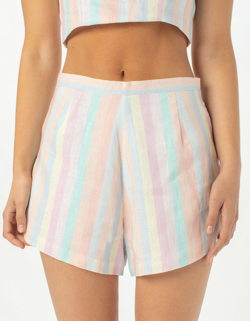Resort Short Pastel Stripe
