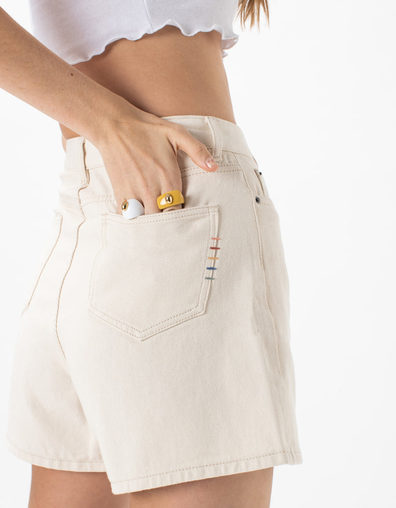 Cools Classic Denim Short Off White