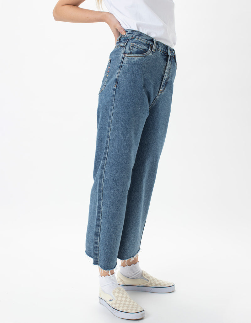 High Rise Relax Jean Rebel Rinse