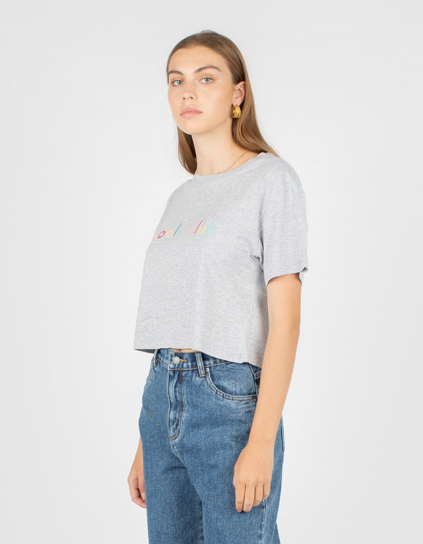 Colour Member Homegirl Tee Grey Melange - Sale