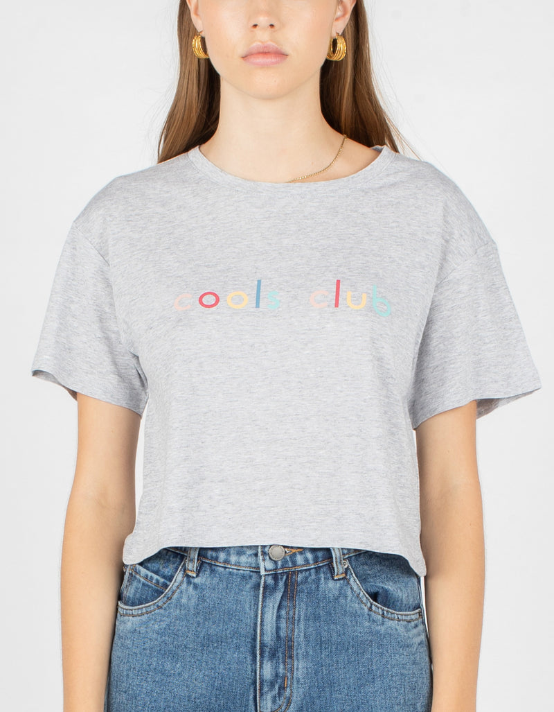 Colour Member Homegirl Tee Grey Melange