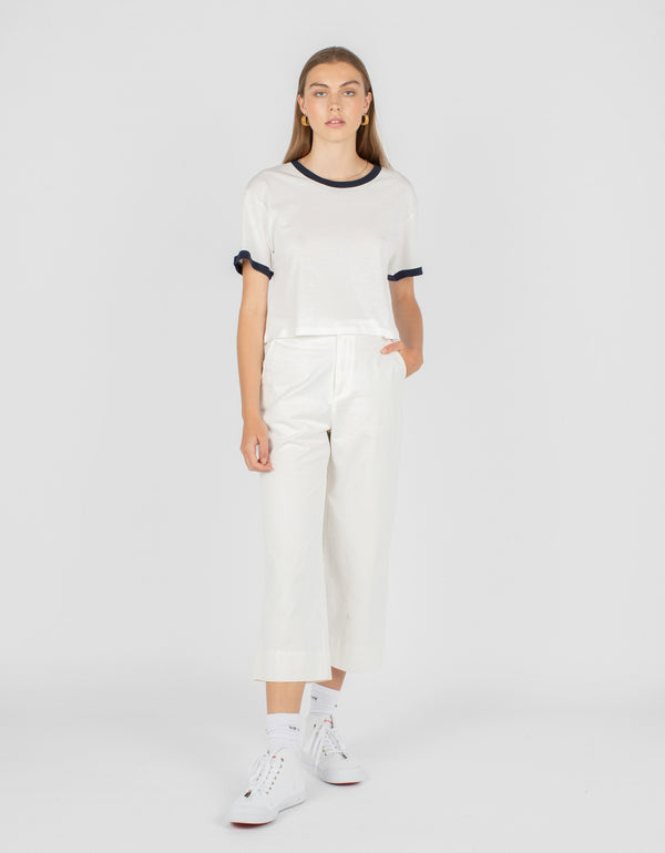 High Rise Relax Pant White - Sale