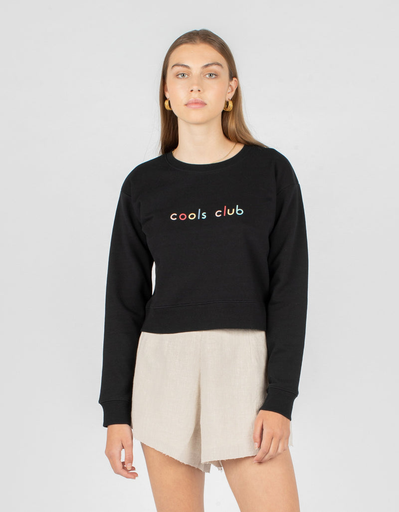 Member Crop Sweatshirt Black - Sale