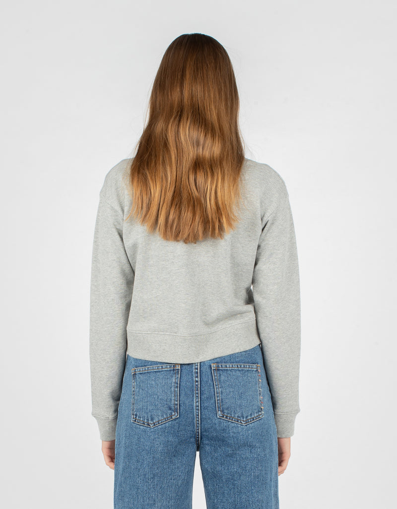 Member Crop Sweatshirt Grey Melange