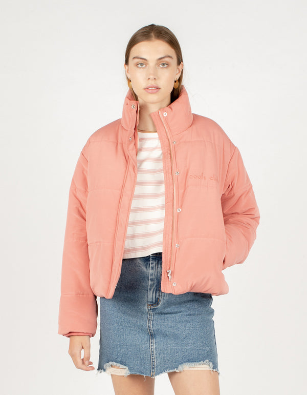 Puff Club Jacket Coral