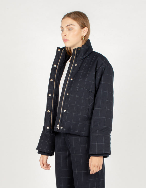 Puff Club Jacket Midnight Plaid