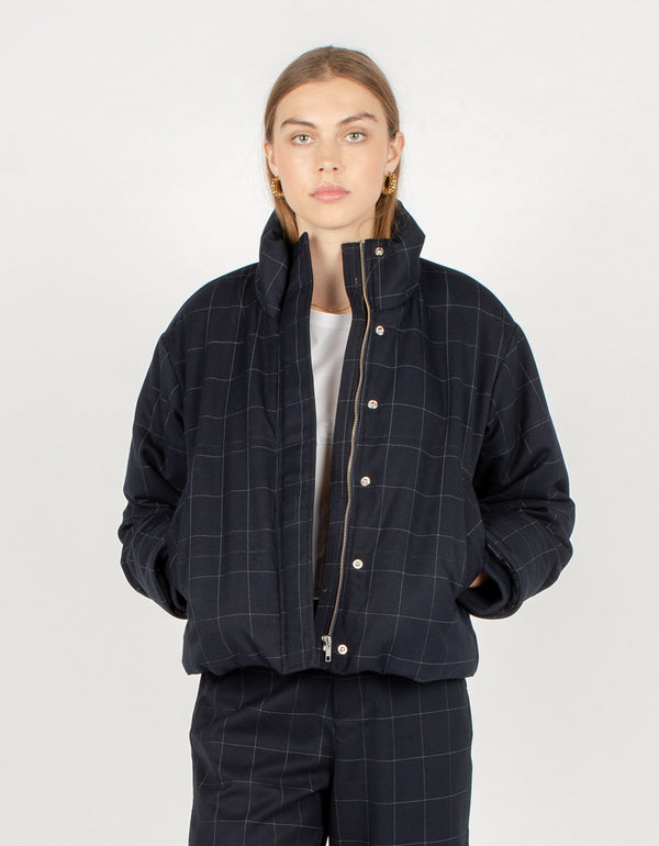 Puff Club Jacket Midnight Plaid - Sale