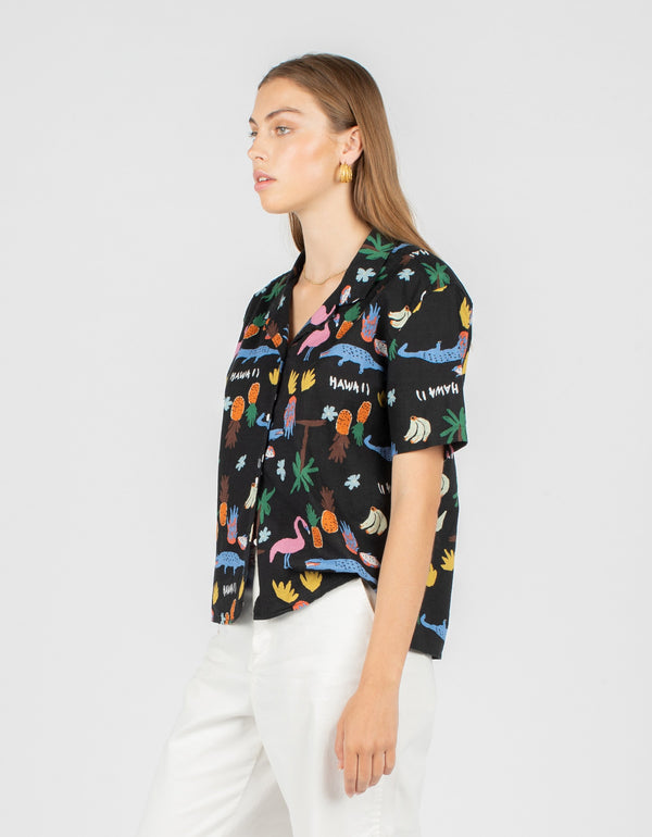 Resort Shirt Black Summer
