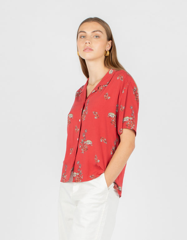 Resort Shirt Red Hawaii - Sale