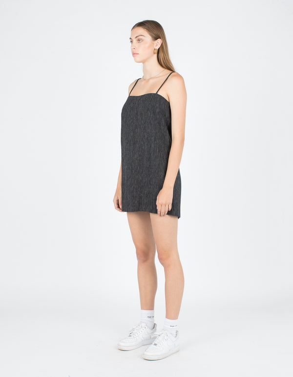 Shift Dress Black Stripe