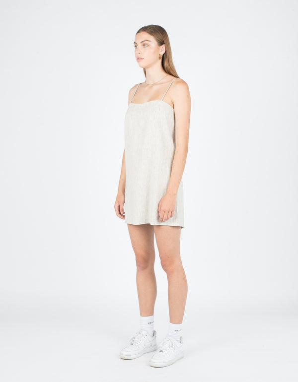 Shift Dress White Stripe