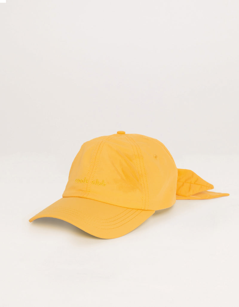 Tie Back Cap Yellow