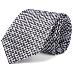 Black and White Houndstooth Tie