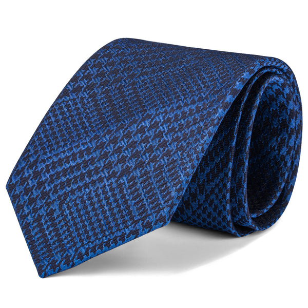 Navy and Blue Mixed Houndstooth Tie