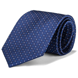 Navy, Royal Blue, and White Micro Dot Tie