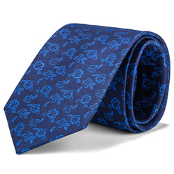 Navy and Royal Blue Floral Tie