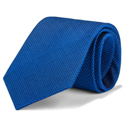 Royal Blue Micro Birdseye Tie