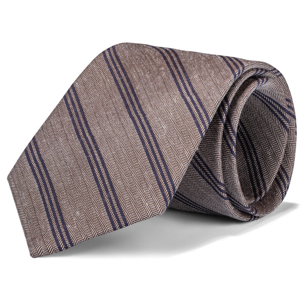 Tan and Tobacco Stripe Tie