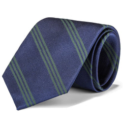 Navy and Green Triple Stripe Tie