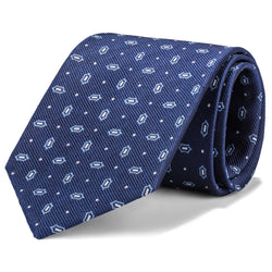 Navy and Blue Mini Geometric Tie
