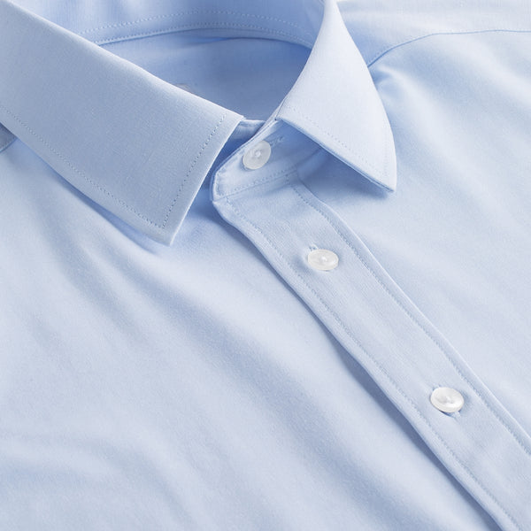 Light Blue All-Stretch Slim Fit Semi Spread Collar Shirt