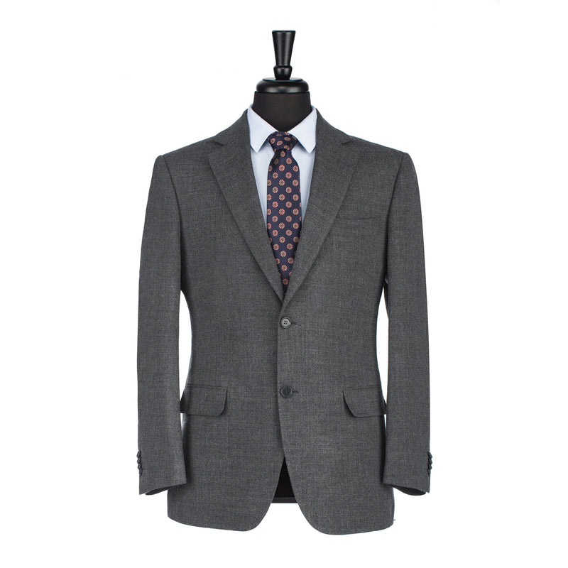 Charcoal Hopsack Tailored Fit Blazer