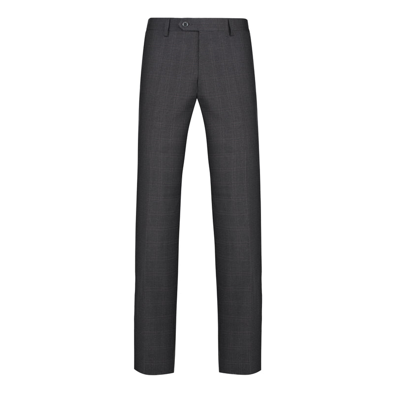 Charcoal Houndstooth Stretch Pants