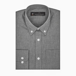 Charcoal Chambray Slim Fit Button-Down Collar Shirt