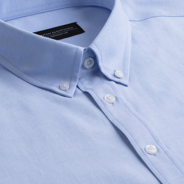 Blue Oxford Slim Fit Button-Down Collar Shirt