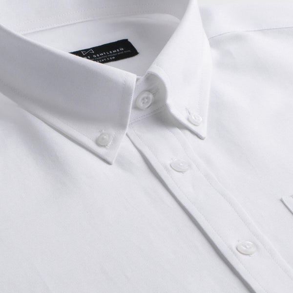 White Oxford Athletic Fit Button-Down Collar Shirt