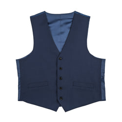 The New Essential Blue Slim Fit Suit Vest