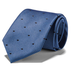 Light Blue Woven Polka Dot Tie