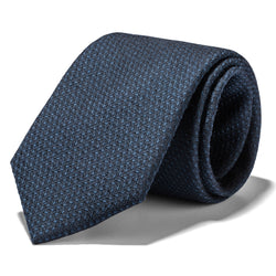 Charcoal and Green Woven Tie