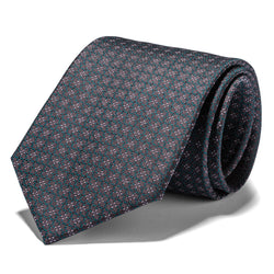 Brown and Green Boxed and Dots Tie