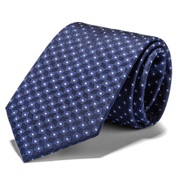 Navy Boxes and Diamonds Tie
